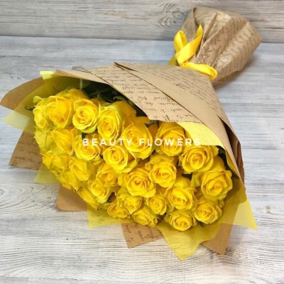 29 желтых роз